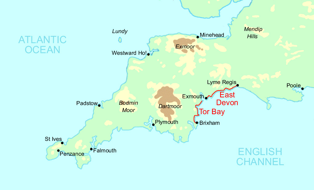 Tor Bay and East Devon Trail Running map